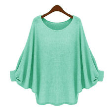 Women Lady Casual Loose Batwing Long Sleeve Jumper Top Oversized Pullover Blouse