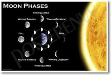 Moon Phases - NEW EDUCATIONAL TEACHER CLASSROOM SCIENCE SPACE ASTRONOMY POSTER