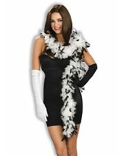 White and Black Boa Halloween Costume Feather Flapper Bachelorette Hen Party 6FT