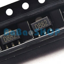 10pcs 2SD882 D882 882 NPN SILICON POWER TRANSISTOR SOT-89 New