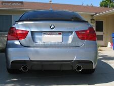 BMW E90 / E91 Rear bumper M Pack sport CARBON diffuser Performance twin exhaust