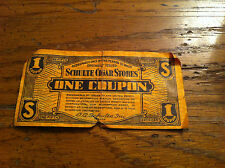 vintage Schulte Cigar Stores United Profit Sharing Coupon UPSC Tobacco RARE old