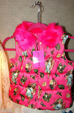 BETSEY JOHNSON VEST PINK PUFFER SIZE LG (10-12) YOUTH NWT RARE & HARD TO FIND