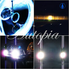 """5"""" Inch Universal Motorcycle Fog & Driving Lights Lamps w/ Extra Free Bulbs B2"""