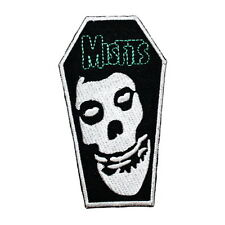 MISFITS Skull Coffin Punk Embroidered Sew Iron On Shirt Jeans Bag Badge Patch