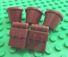 Original LEGO Bucket Backpack Brown Minfigure Utensil Replacement Part Piece LOT