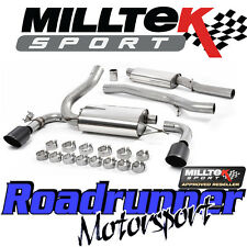 "Milltek Focus RS MK3 2016 on Exhaust System 3"" Cat Back Resonated Black GT-115B"