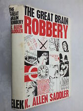 K ALLEN SADDLER.THE GREAT BRAIN ROBBERY.1ST/1 H/B D/J 1965.RARE AUTHOR 1ST BOOK