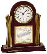 Wedding Thank You Parents Gift Clock from Bride Groom Son Present to Mom & Dad