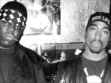 BIGGIE AND TUPAC A3 BLACK AND WHITE POSTER PRINT ART BAT01- BUY 2 GET 1 FREE