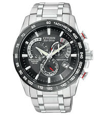 BRAND NEW CITIZEN ECO-DRIVE AT PERPETUAL CHRONO ATOMIC BLACK DIAL AT4008-51E NIB