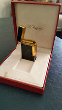 S.T. Dupont Ligne 2 Lacquer Lighter - Black/Gold