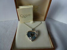 "Clogau Gold, Silver & Rose Gold Flower Heart Locket & 18-26"" Chain"