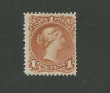 Queen Victoria 1868 Canada 1c Red Stamp #22 Scott Value $800