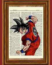 Dragon Ball Z Dictionary Art Print Poster Picture Anime Manga Goku