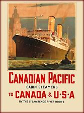 Canadian Pacific St. Lawrence River Oceanline Canada Travel Advertisement Poster
