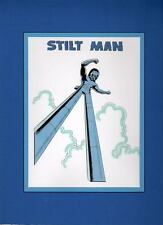 STILT MAN PRINT PROFESSIONALLY MATTED Vintage artwork Daredevil