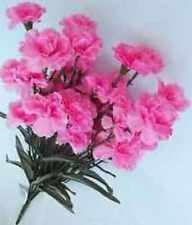 2 Pink Carnation Bushes Artificial Flower for Decorating, Crafting, Embellishing