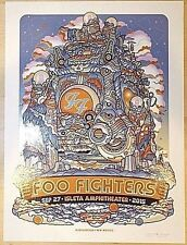 2015 FOO FIGHTERS 15 ALBUQUERQUE POSTER 9/27 BURWELL LG DOODLE SIGNED AP #/1