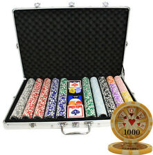 1000 14G HIGH ROLLER CASINO TABLE CLAY POKER CHIPS SET CUSTOM BUILD