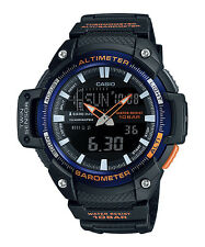 Casio Twin Sensor Watch, Altimeter, Thermometer, 100 Meter, 5 Alarms,SGW450H-2B