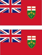 Set of 2x sticker vinyl car bumper decal outdoor CANADA ONTARIO moto flag