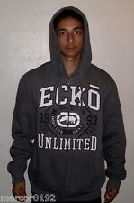 ECKO UNLTD Men's Hoodie Zipper Sweatshirt Dark Gray Medium New W/ Tags