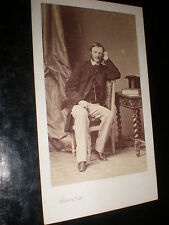 Old Cdv photograph Mark Rolle High Sherrif Devon Disderi Paris c1860s
