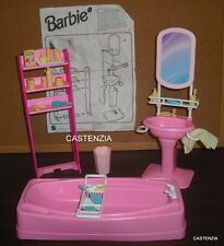 FURNITURE PLAYSET MATTEL BARBIE VINTAGE 1995 SO MUCH TO DO BATHROOM PLAYSET 1301