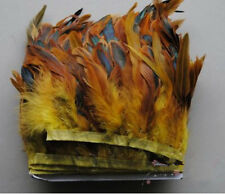 """Wholesale 1-10 yards beautiful  5-7"""" Rooster feather cloth feather cloth tape"""