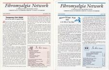 Fibromyalgia Network Newletters Lot of 2 - Oct 1996 and July 1997 also for CFS