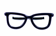 Vintage retro punk style black glasses double finger ring UK Size L M