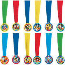 Mickey Mouse Birthday Party Award Medals 12ct  Party Favors Or Fun!