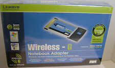 NEW Linksys Cisco Wireless-G Notebook Laptop PC Card PCMCIA Adapter WPC54G