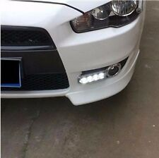 For Mitsubishi Lancer 2008-2012 2x White LED DRL Daytime Fog Light Run lamp