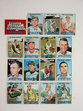 1967 Topps Lot 16 Athletics A's Roof Cater Lindblad Odom Repoz Dobson FLASH SALE