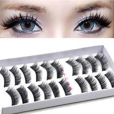 Wholesales 10 Pairs of Reusable Natural and Regular Long False Eye Lashes Eyelas