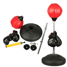 Children Kids Boxing Stand Speed Ball Punching Bag Adj Height+ Gloves & Pump Set