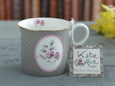 Creative Tops Katie Alice Ditsy Grey Floral Oval Bone China Shabby Mug
