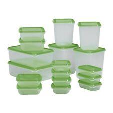 IKEA PRUTA BPA FREE FOOD CONTAINER, SET OF 17, MICROWAVE,FREEZER,DISHWASHER-SAFE