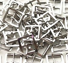 "25 x Pressed Steel Roller Buckles 3/4"" 19mm.Nickle Plated finish."