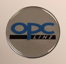 Opc line sticker/autocollant-diamètre 68mm brillant en forme de dôme gel finition opel/vauxhall