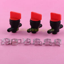 3x 1/4 Gas Fuel Cut off Valves Shutoff For Briggs and Stratton 494768