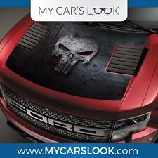 Ford Raptor F-150 Hood Graphics Punisher Skull Vinyl Decal