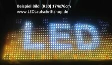 LED Laufschrift Display 149x27cm FULL COLOR Outdoor Datum Uhrzeit Temperatur SMD