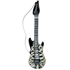 NEW INFLATABLE SKELETON GUITAR 105CM MUSICAL INSTRUMENT FANCY DRESS