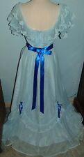 1970's JC Penny Fashions Prom Southern Belle Costume Period Bridesmaid Dress S