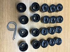 A Set 20x VW Alloy Wheel Nut Caps Bolt Covers with Removal Tools 17mm( BLACK )