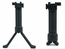 TacFire Grip Pod Style Vertical Grip Bipod with Rail- Black