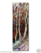 Abstract Tree Painting on Metal Wall Decor by Pol Ledent Natures Mystery